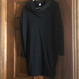 Black cowl neck tunic